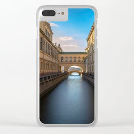 Winter Canal Saint Petersburg Clear iPhone Case