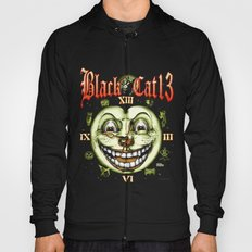 Black Cat 13 Halloween Clock Hoody