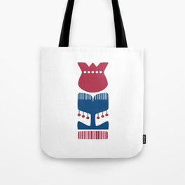 Nordic Red Flower Tote Bag