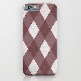 Pantone Red Pear Argyle Plaid Diamond Pattern iPhone Case