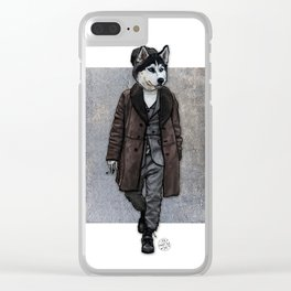 Husky Hipster, Dapper Doge Clear iPhone Case