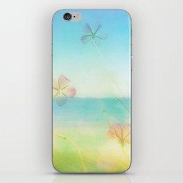 Dreamy Summer Beach Flowers iPhone Skin