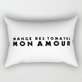 MANGE DES TOMATES Rectangular Pillow