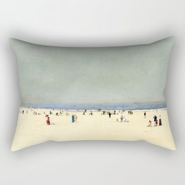 Sand, Sea and Sky: A Summer Fantasy by John Atkinson Grimshaw Rectangular Pillow