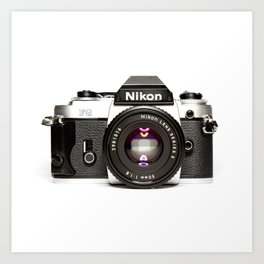 Nikon Camera Style Art Print