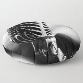 microphone music aesthetic close up elegant mood art photography  Floor Pillow