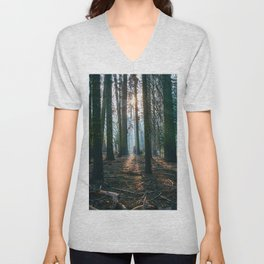 The woods are deep Unisex V-Neck