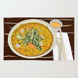 Singapore Laksa Noodle Rug