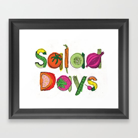 Salad Days Framed Art Print