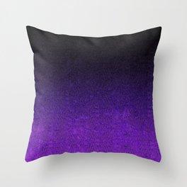 Purple & Black Glitter Gradient Throw Pillow