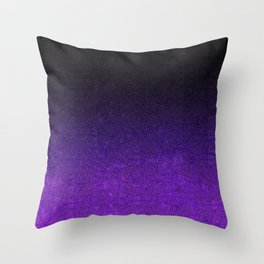 Purple & Black Glitter Gradient Throw Pillow