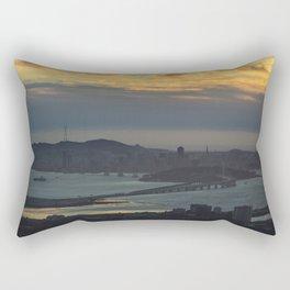 Bay Bridge and SF at Sunset Rectangular Pillow