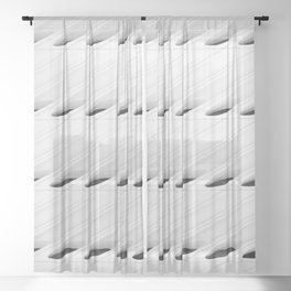 The Broad In the Afternoon Black & White Pattern Photography II Sheer Curtain