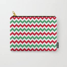Christmas Chevron Print Carry-All Pouch
