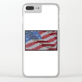 Stars and Stripes Clear iPhone Case