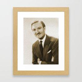Leslie Phillips, British Actor Framed Art Print