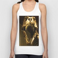 t rex Tank Tops featuring T-Rex by Vito Fabrizio Brugnola