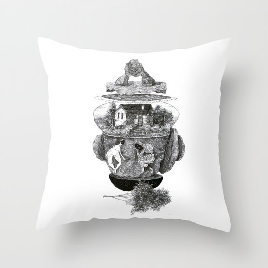 house, and things Throw Pillow