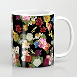Flowery (black version) Coffee Mug
