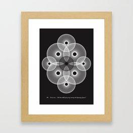 Interruption Peeve Framed Art Print