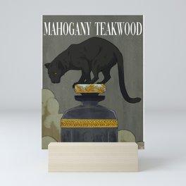 Mahogany Teakwood (with text) Mini Art Print