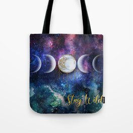 Celestial Ocean Moon Phases | Stay Wild Tote Bag
