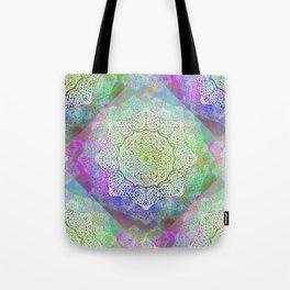 White Flower Mandala G406 Tote Bag