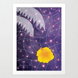 Hibiscus Floating in Universe_Y Art Print