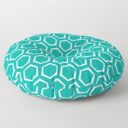 Blue and White Octagon Pattern Floor Pillow
