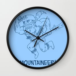 Mountaineer! (blue) Wall Clock