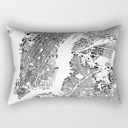 New York Map Schwarzplan Only Buildings Rectangular Pillow