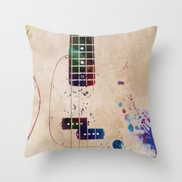 Guitar art 11 #guitar #music Throw Pillow
