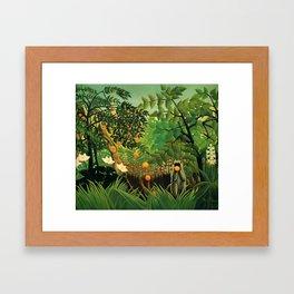 "Henri Rousseau ""Exotic landscape"", 1910 Framed Art Print"