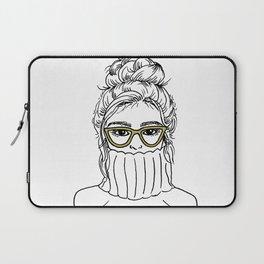 Turtleneck Girl Portrait Laptop Sleeve