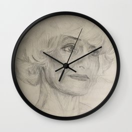 Home Decor Drawing Woman Digital Digital Sketch Modern Room Wall Art Wall Hanging Wall Clock