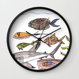 Party of Seven Wall Clock