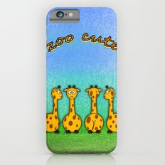 zoo cute giraffes Slim Case iPhone 6s