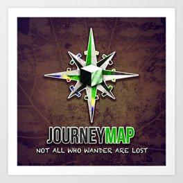 Journey Map Art Print