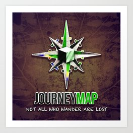 Journey Map Art Print