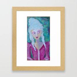Haunted Marie Framed Art Print