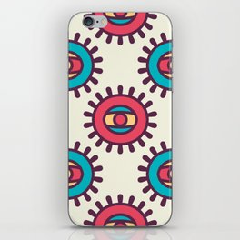 Eye In A Circle Boho Pattern iPhone Skin