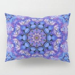 Summer sky Delphinium mandala Pillow Sham