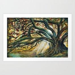 Earth & heaven meeting  Art Print