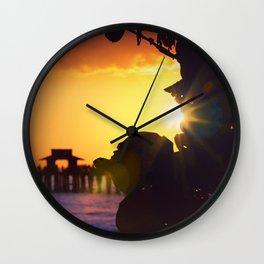 Flare Peek Naples Pier Wall Clock