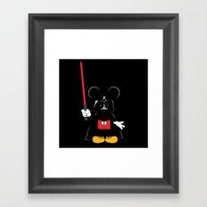 Darth Mickey Framed Art Print