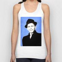 frank sinatra Tank Tops featuring Frank Sinatra - My Way - Pop Art by William Cuccio aka WCSmack