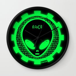 Believe Alien Fact Wall Clock