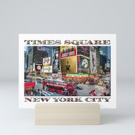 Times Square II (widescreen poster on white) Mini Art Print
