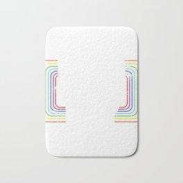 "Colorful Rainbow Flag Gay Pride T-shirt Design ""Born This Way"" Rainbow Flag Animals Animal Pet Bath Mat"