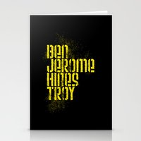 caleb troy Stationery Cards featuring Ben Jerome Hines Troy / Black by Brian Walker